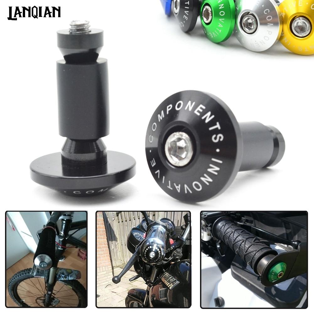 Empuñaduras de manillar de motocicleta Universal 7/8, enchufe delgado para Yamaha YBR 125 YZF R1 R3 R6 R125 R25 TTR RSZ CBR600 YZF600 MT01