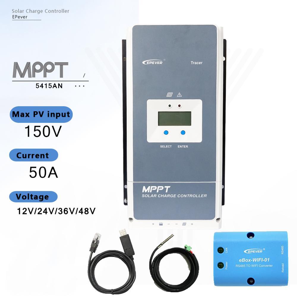 EPever-contrôleur de chargeur solaire MPPT   MPPT 12V 24V 36V 48V, Auto pour Max 150V régulateur dentrée de panneau solaire, haute qualité