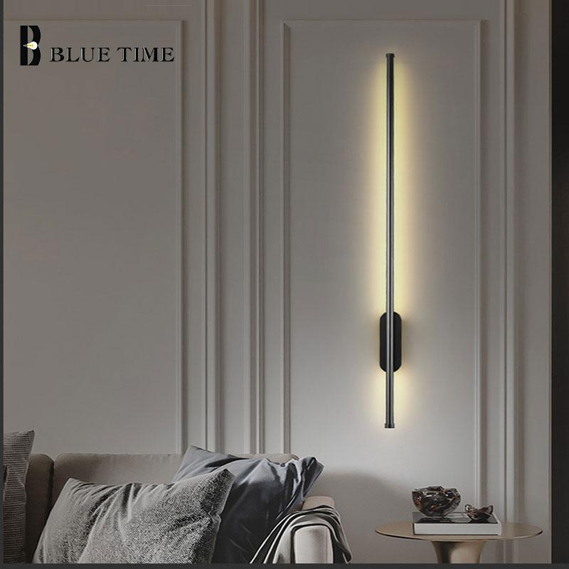 Sconce Wall Lamp Modern Home Led Light for Living room Bedroom Bedside Black&Gold Aisle Corridor  Lamps