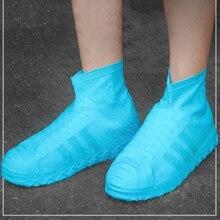 1 paire housse de chaussure en Silicone réutilisable S/M/L imperméable chaussures de pluie couvre Camping en plein air antidérapant caoutchouc botte de pluie couvre-chaussures