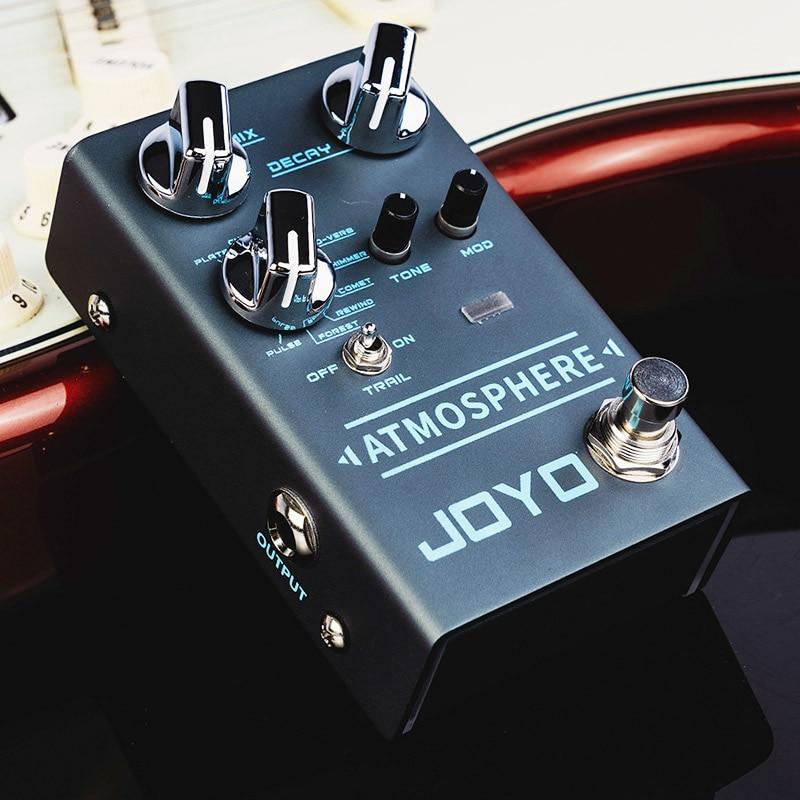 JOYO ATMOSPHERE Reverb Guitar Pedal SPRING/CHURCH/PLATE/EKO-VERB/SHIMMER/COMET/REWIND/FOREST/PULSE 9 Digital Reverb Effect R-14