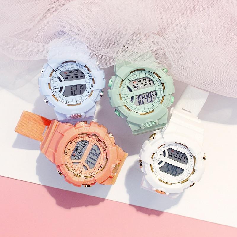 Fashion Brand Ladies Watch LED Electronic Digital Female Watches Alarm Date Week Lighting Clock Sport Fitness Watch Reloj Dama