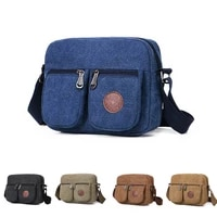 outdoor travel mens crossbody bag canvas fabric messenger bag small cycling backpacks with multiple pockets