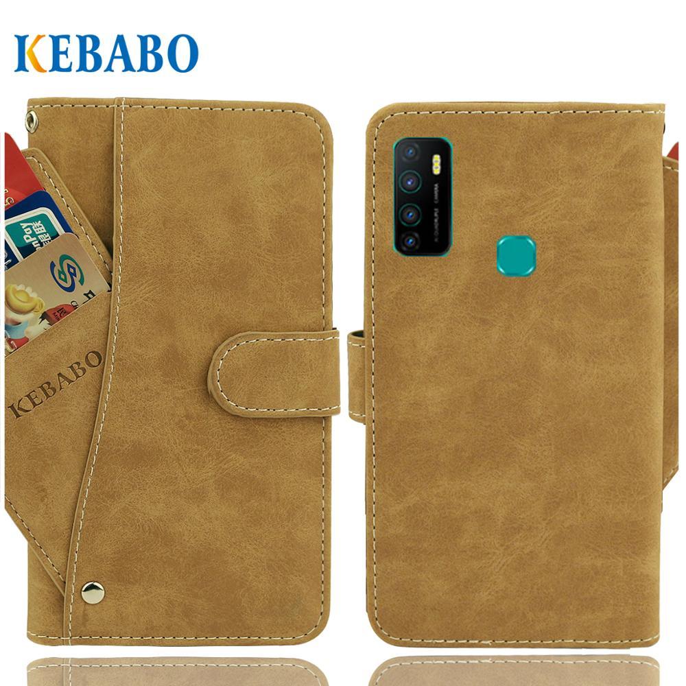 """Carteira de couro haier titan t5 caso 5.7 """"flip moda luxo frente cartão slots casos capa negócios magnético telefone sacos"""