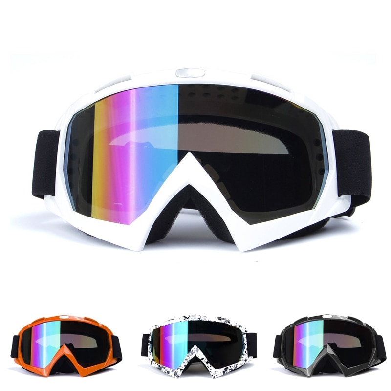 Adult Motocross Goggles Motorcycle goggles Glasses ATV Clear Lens Ski Helmet Goggles Off-road for Kawasaki motorcycle atv riding scooter driving flying protective frame clear lens portable vintage helmet goggles glasses for 2009 buell xb12r