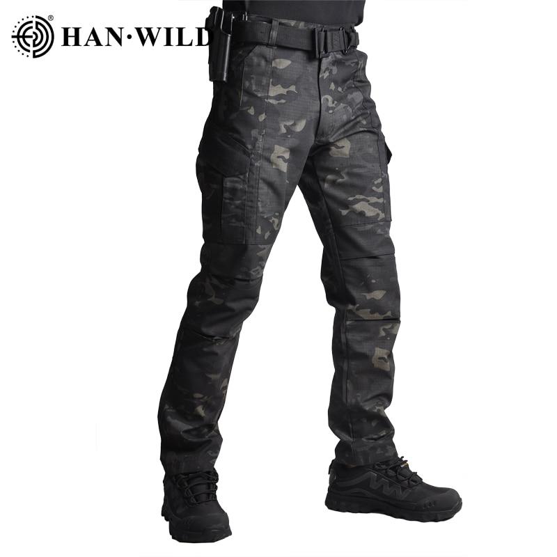 HAN WILD – pantalon tactique militaire de Camouflage, décontracté, de Combat, de larmée, Cargo, de randonnée, hydrofuge, Ripstop, 4XL