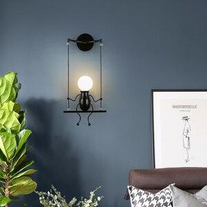 Creative  Children's Room Wall Light Bedroom Wall Lamp LED Lamp Bedside Light Fixture Living Room Aisle Villain Light E27 AC220v