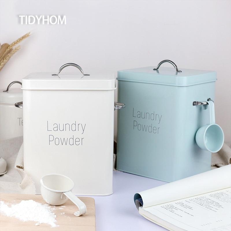 تستخدم للمطبخ تخزين الغذاء أرز حبوب حاوية علب المطبخ المنزلية الغذاء العنصر صندوق تخزين مسحوق الغسيل تخزين الحاويات
