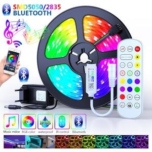 Led Lights Strips Bluetooth 25M 30M 5050 Waterproof 2835 WIFI RGB Flexible Tape Led Ribbon 5M 10M 15M 20M With Phone APP Control