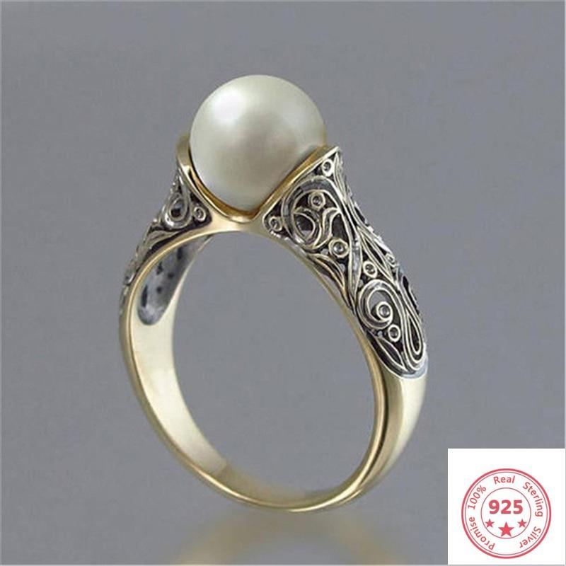 14 k ouro branco pérola anel para mulher bijoux femme bijoux pérola pedra preciosa joyas jóias anillos mujer rosa anéis de ouro feminino