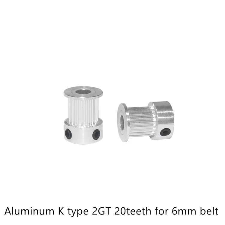 GT2 Timing Pulley 20 teeth Bore 3mm 3.17mm 4mm 5mm 6.35mm 8mm for width 6mm 2GT Synchronous Belt Small backlash 20Teeth