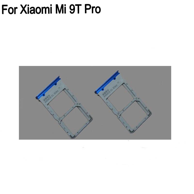 100% Blue SIM Card Tray For Xiaomi Mi 9T Pro SD Card Tray SIM Card Holder SIM Card Drawer For Xiaomi Mi 9 T Pro Parts