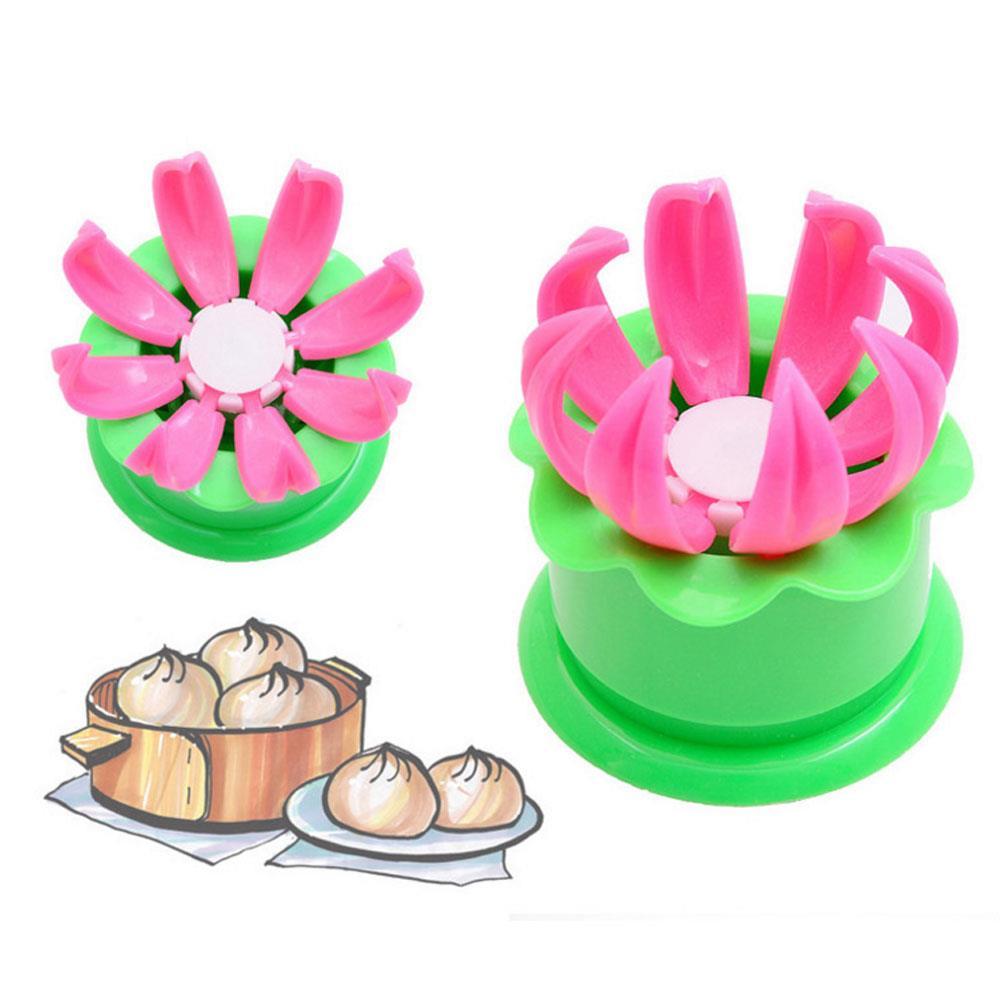 Molde de moño chino Baozi Dim Sum Shaper cocina hornear bricolaje verde hogar