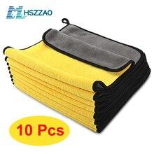 Toalla de microfibra Extra suave para lavado de coche, paño de Secado y limpieza para el cuidado del coche, toalla para lavar el coche, nunca rasca, 3/5/10 Uds.