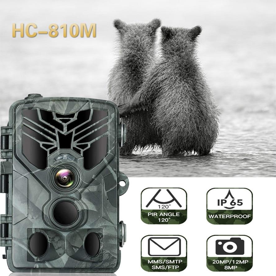 SUNTEKCAM Hunting Camera Trail Camera SMS/MMS/SMTP 2G 16MP 1080P HC-810M Photo Traps 0.3s Trigger Time Trap Wildlife недорого