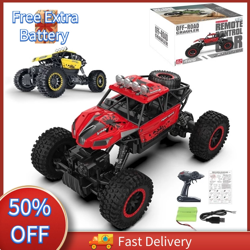 RC Car 4WD 1:18 Monster Truck Rock Crawler 2.4G Remote Control Cars Buggy Off-Road Control Trucks Bo