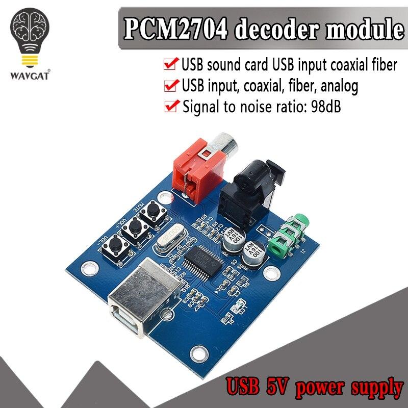 WAVGAT PCM2704 USB DAC USB puissance fiber optique coaxiale sortie analogique pour framboise Pi framboise framboise bmc Windows 7 pas besoin de lecteur