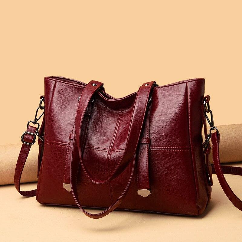 الخريف والشتاء حقائب كبيرة المرأة الجديدة حقيبة كتف المرأة أكياس كبيرة قدرة المرأة لينة الجلود الطازجة Crossbody