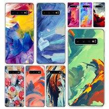 Art couleur peinture Housse de Téléphone Pour Samsung Galaxy A51 A71 A50S A70S A10 A20E A30 A40 A01 A21 A41 M30S S A6 A7 A8 A9 Plus