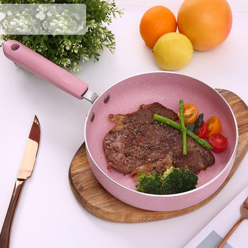 18-20cm Rosa Omelett Pan für Eier Ham Pfannkuchen Maker Braten Pfannen Kreative Nicht-stick Keine Öl -rauch Frühstück Grill Pan Kochen Topf