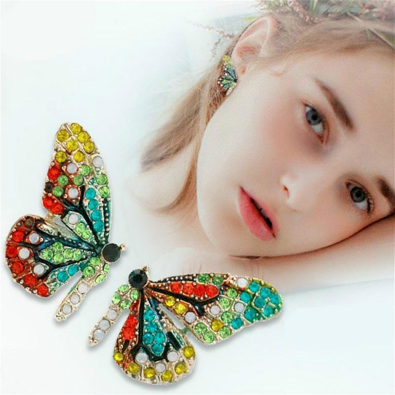 Hot Sell Fashion The Butterfly Drop Dangle Earrings For Women Fashion Jewelry Fairy Tale Sweet The Butterfly Earrings
