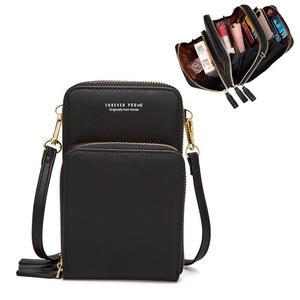 2020 Three layers High capacity Colorful Cellphone Bag Brand designer bag Daily Use Card Holder Shoulder Bag for Women Purse