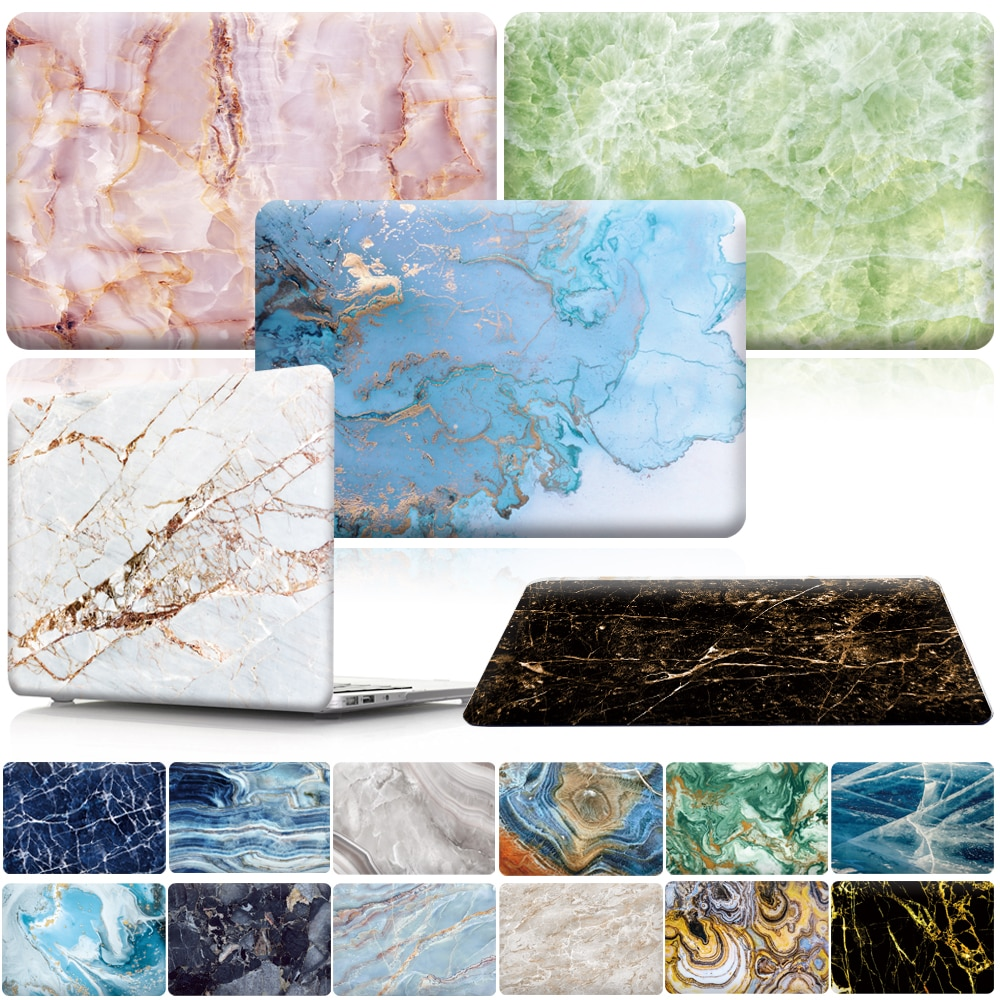 floral crystal clear print hard case for macbook pro 13 15 2016 touch bar laptop bag air pro retina 12 13 15 with keyboard cover KK&LL For Apple MacBook Air Pro Retina 11 12 13 15 & New Air 13 / Pro 13 15 Touch Bar various Marble Hard Shell Laptop case