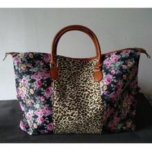 Large Capacity Women Leopard stripes Travel Bags Hand Luggage Duffle Bag Travel Waterproof Print Organizer Weekend Overnight Bag