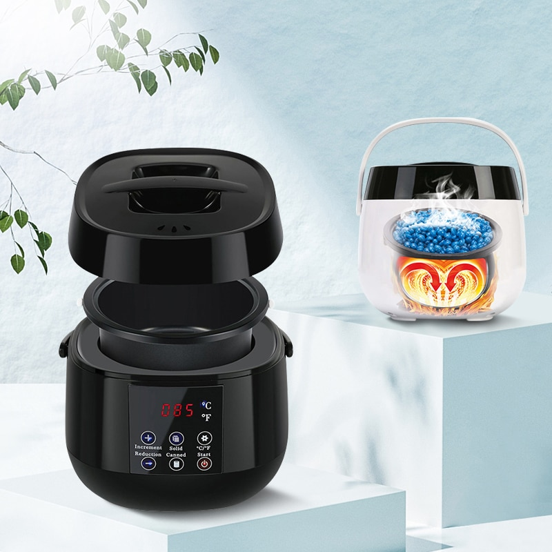 500Ml Wax Heater Hair Removal Machine Display Smart Fast Heat Wax Melting Machine Hand Feet Body Epilator Paraffin Wax Warmer