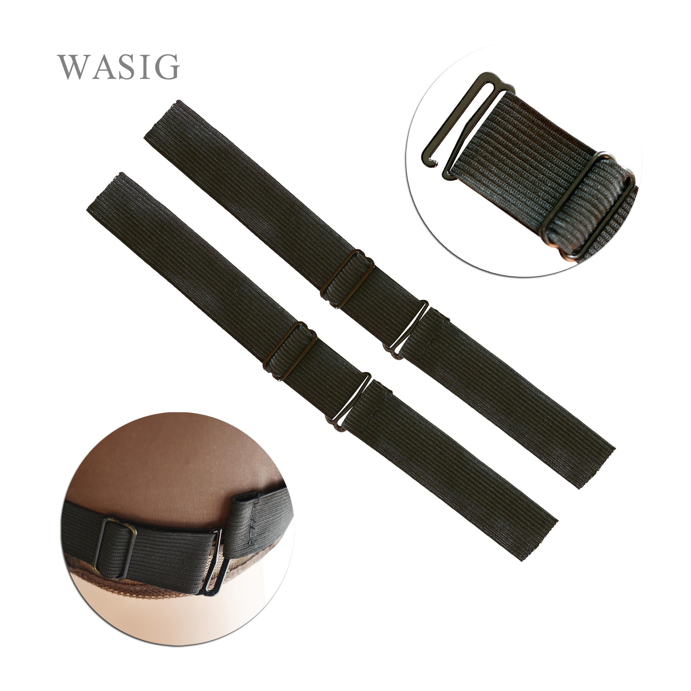 Las bandas elásticas más altas ajustables de Nylon negro para pelucas que hacen pelucas, Red de encaje, Red de encaje, herramientas de fabricación de pelucas de goma