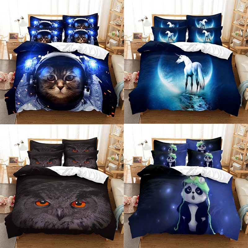 3d Duvet Cover Sets Tiger Scenery Home Decor Bed Linens Anima Wolf Quilt Modern Dropshipping Single Queen King Size Bedding Set