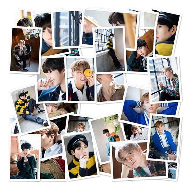 40 pçs/set MONSTA X Álbum Auto Feita de Papel Cartão Lomo Cartão Da Foto Do Cartaz HD Photocard Fãs Gift Collection