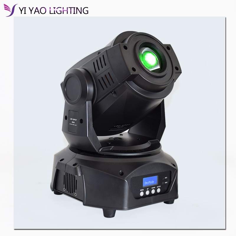Professional 3 Prism LED Spot 90w 7 colors+8 Gobos Wash Moving Head Light Stage DJ Lighting