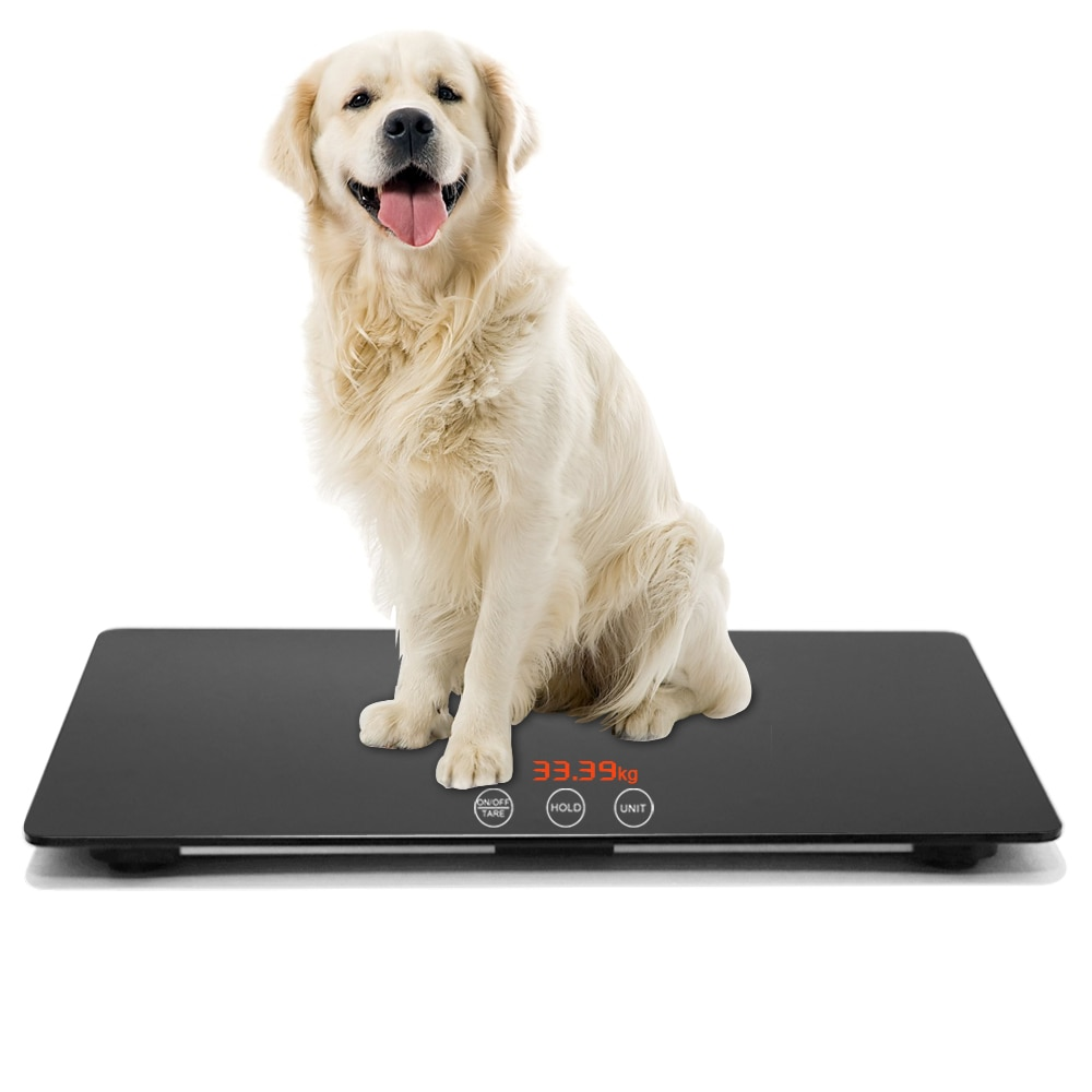 HD Big Screen Baby Pet Weight Scale Auto Hold KG LB OZ Switchable Use for Family and Big Dog Cat Accuracy:10kg-100kg