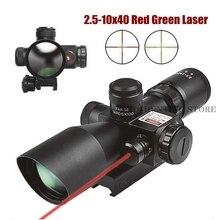 2.5-10x40 tactique fusil portée tactique rouge vert illuminé Mildot télémètre réticule pour la chasse