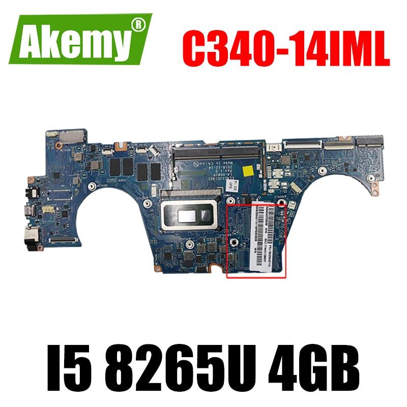 لينوفو C340-14IWL FLEX-14IWL S540-14IWL اللوحة المحمول LA-H081P مع وحدة المعالجة المركزية i5 8265U 4GB RAM اختبار 100% العمل