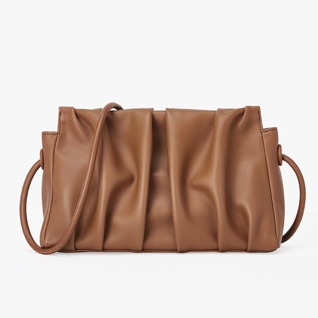 New Arrivals Genuine Leather Pouch Cloud Bag Fashion Women Clutch Bag Designer Ladies Crossbody Shoulder Bag Top Quality Handbag