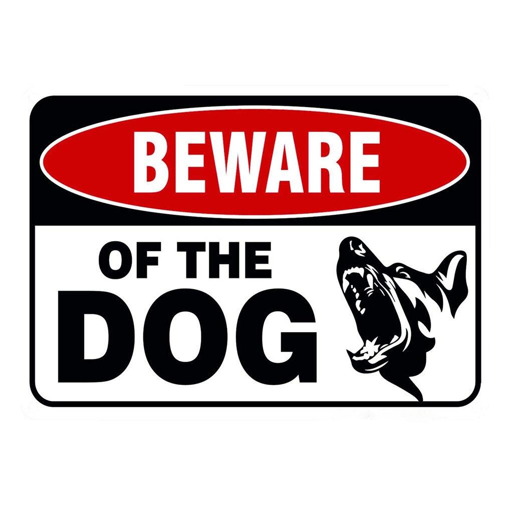 Cuidado Com O Cão Cerca Pendurado Borad Sinal do metal Logotipo do Sinal De Ferro Placas Existem Cães De Metal Sinal de Aviso Porta pendurado Borad