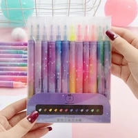 12pcs constellation story series dual side highlighter pen set vast starry sky marker drawing paint office school supplies h6065