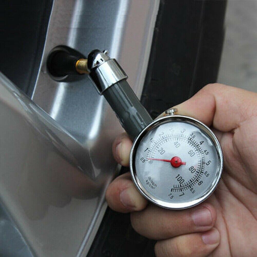 Манометр, прибор для измерения давления в шинах, сталь + медь + пластик, полезный прибор для измерения давления воздуха