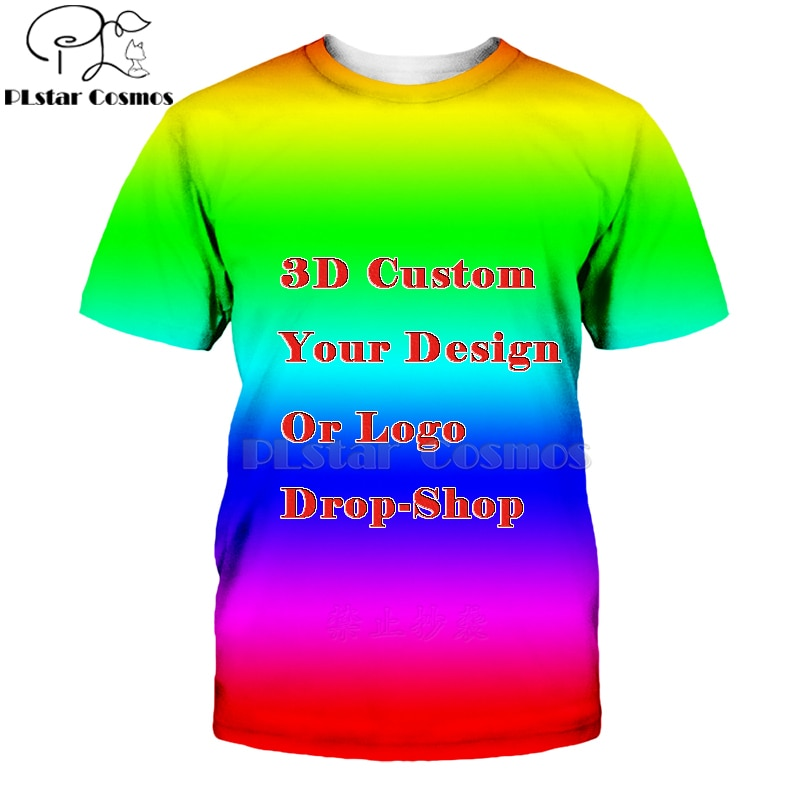 Nieuwste Creëren Uw Eigen Klant Ontwerp Anime/Foto/Ster/U Wilt/Zanger Patroon/Diy T-shirt 3D Print Sublimatie T-shirt