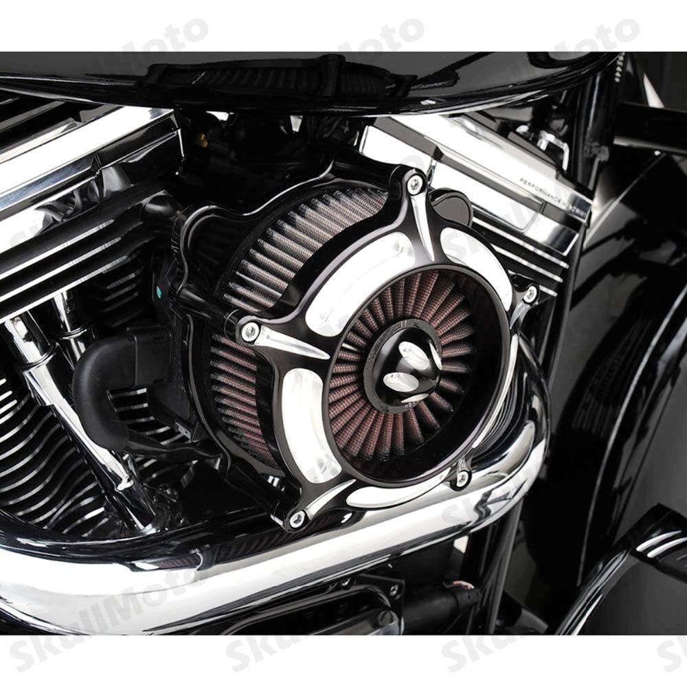 Мото rcycle воздушный фильтр с контрастным вырезом турбинный воздухоочиститель фильтр для Harley Sportster XL883 1200 1991-2019 filtre a Air Moto
