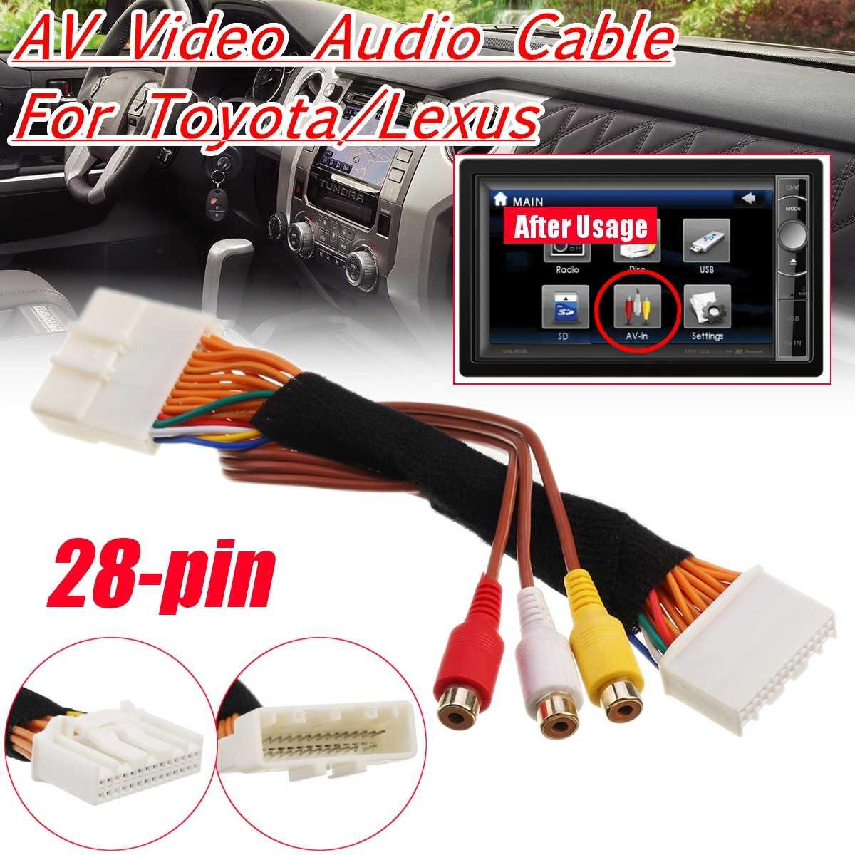 28 Pin AV видео аудио кабель для Toyota/Lexus Touch 2 и Entune OEM мониторы головных устройств для Renault & Dacia для Opel для Vauxhall