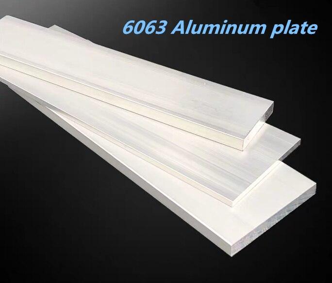 6063 alumina row aluminum square aluminum alloy flat strip flat aluminum block  aluminum plate custom