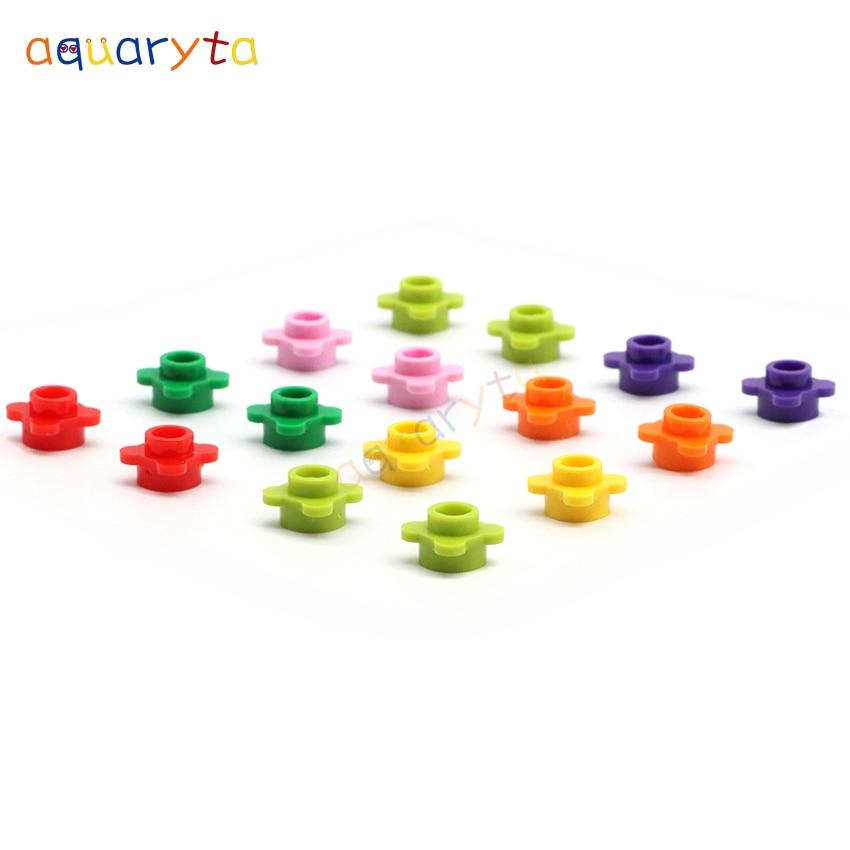 Aquaryta 400 шт. круглые пластины 1x1 с цветочным краем 33291, строительные блоки, детали «сделай сам», образовательные фигурки, кирпичи, креативные д...