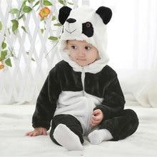 Panda Cosplay Costume Baby Winter Warm Animal  Jumpsuit Funny Cute Kigurumis Little Boy Girl Hallowe