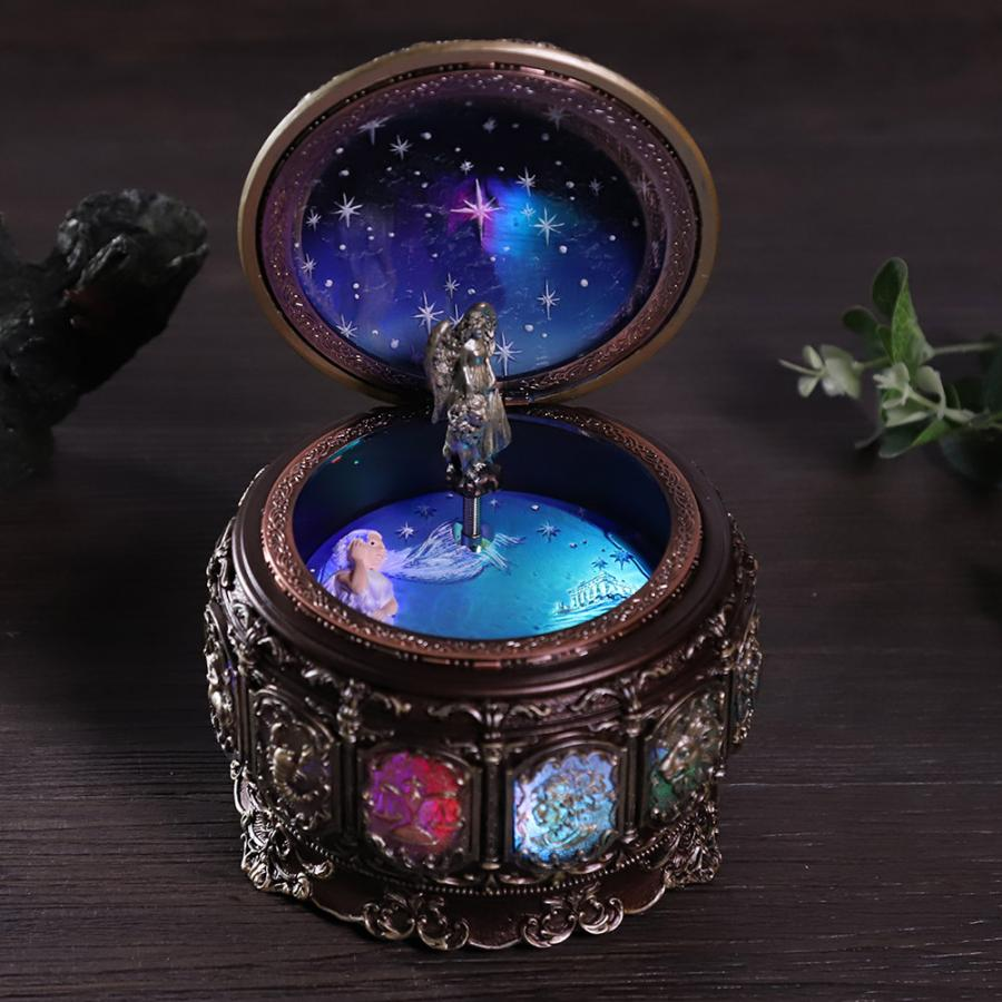 2021Rotating Baby Music Box with LED Lights Twelve Constellation Music Box Zodiac Birthday Christmas Gift Sky Castle