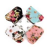Модные новые элегантные холщовые мини-кошельки с розами, 1 шт., кошелек Zero, кошелек для девочек и женщин, женский кошелек, нулевые кошельки, су...