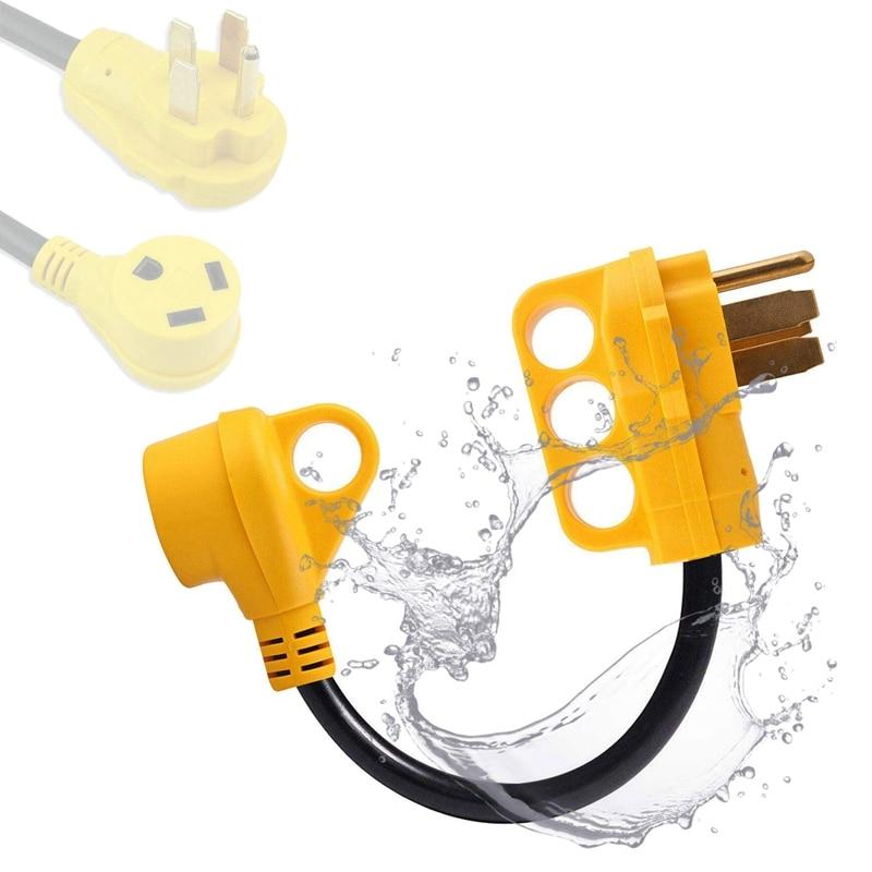 Wtyczka przyczepy RV 125V/3750W 50 AMP (14-50P) do 30 AMP (TT-30R) Adapter miedziane druty męski na żeński wylot RV Adapter do przyczepy