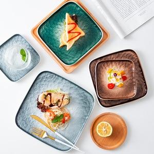 Nordic Dinner Set Plates and Dishes Dinnerware Dessert Pasta Ceramic Plates Dinner Salad Talerze Obiadowe Dinner Plates BG50DP